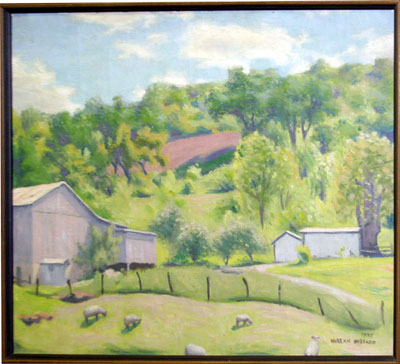 "Harlan Hubbard's ""Pastoral Kentucky Hillside With Sheep"""